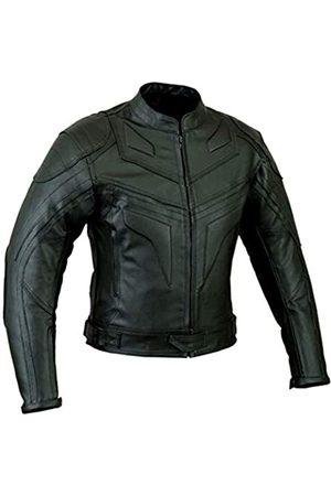 SPEED MAXX LTD Batman Style Smart Fit Motorcycle Leather Jacket (L)