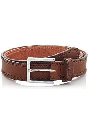 HIKARO Amazon Brand - Men's Leather Belt, Multicolour (Gingham Black / Gingham Red), 36