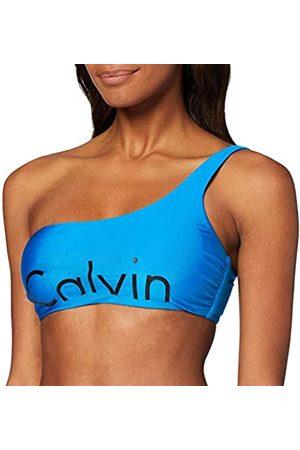 Calvin Klein Women's's One Shoulder Bralette-rp Bikini Bottoms, ( Jewel 488)