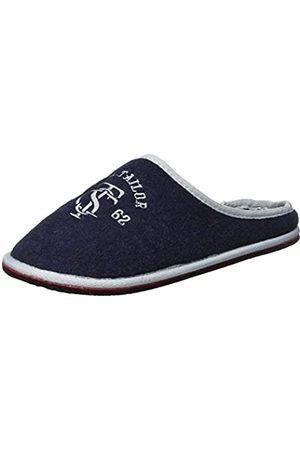 TOM TAILOR Men's 3781801 Open Back Slippers, Blau (Navy)