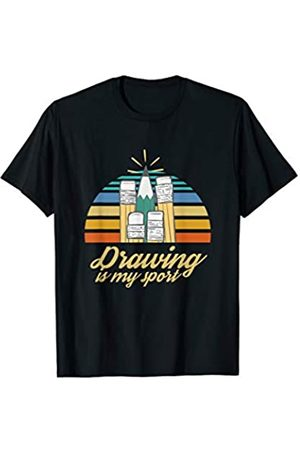 Cool Portraitist Artist Sketching Drawing Gifts Sketch Artist Illustrator Urban Sketcher Drawing Is My Sport T-Shirt