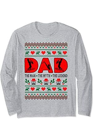 Rinabatu Designs Dad The Man The Myth The Legend Saxophone Christmas Gift Long Sleeve T-Shirt