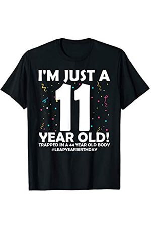 Leap Year 2020 Birthday Gifts Outfits Co. 44 Years Old Birthday Leap Year 11 Husband Wife 44th Bday T-Shirt