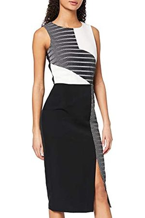 Paper Dolls Women's Monochrome Colour Block Midi Pencil Dress