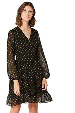 TRUTH & FABLE Amazon Brand - Women's Midi Chiffon A-Line Dress, 14