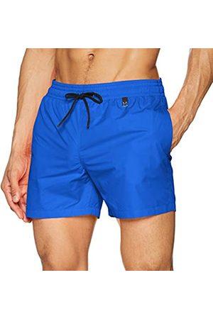 Hom Men's - Beach Boxer 'Sunlight' - Trendy Beach Shorts in Attractive Colours - Electric - L