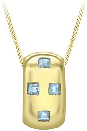 Carissima Gold 9 ct Yellow Gold 4 Stone Topaz Pendant on Adjustable Chain Necklace of 46 cm/18 inch