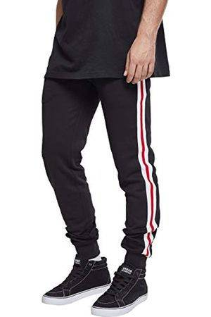 Urban classics Men's 3-Tone Side Stripe Terry Pants Sports