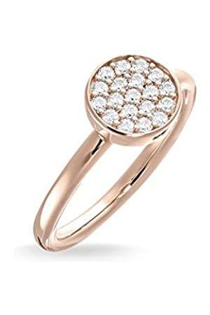 Thomas Sabo Women Solitaire Ring Sparkling Circles Ring 925 Sterling Silver; 18k Rose Plating TR2050-416-14