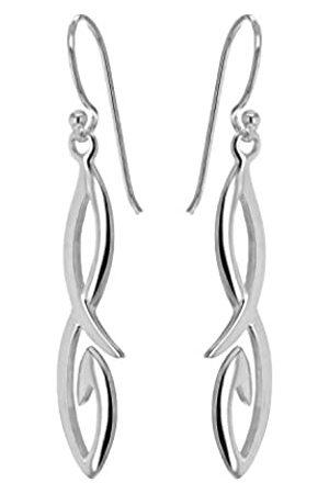 Tuscany Silver Sterling Fancy Figure 8 Drop Earrings