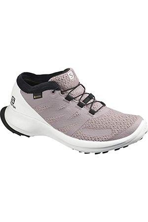 Salomon Women's Sense Flow GTX Competition Running Shoes, Multicolor (Quail/ /Cherry Tomato)