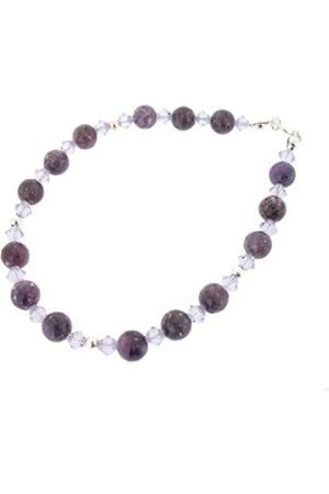 Earth Swarovski Crystal and Lepidolite Bracelet at 19cm in Length