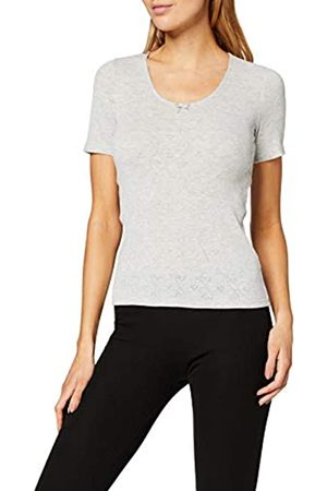 Damart Women's T-Shirt Col V Petits Cœurs Thermolactyl Degré 3 Thermal Top