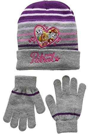 Nickelodeon Girl's Paw Patrol Heart Shape Scarf, Hat & Glove Set
