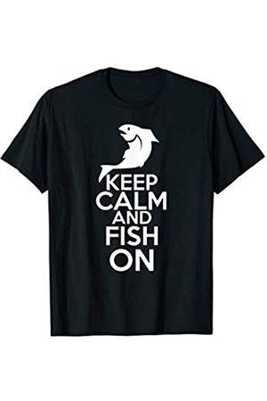 My Shirt Hub Keep Calm And Fish On Cool Fishing Day Gift T-Shirt