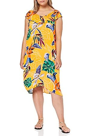 Dorothy Perkins Women's Ruffle ON Shoulder Bardot Dress Tropical Party