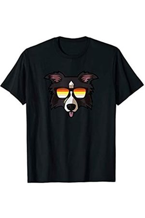 Paw Lovers by Mezziteez Gay Border Collie with Sunglasses - Cute Gay Pride Dog T-Shirt
