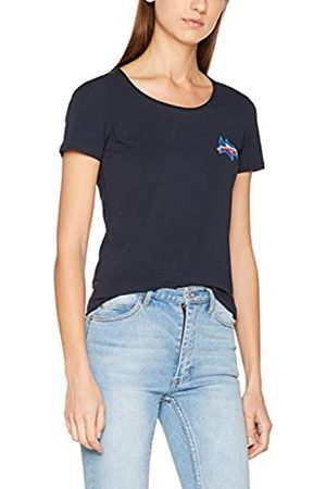 Tommy Hilfiger Women's Lizzy Logo Diamante Round-NK TOP SS T-Shirt