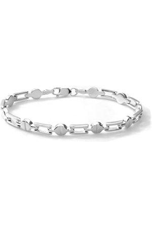Citerna Sterling Bar and Bean Link Bracelet of 18.4 cm