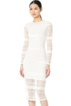 TRUTH & FABLE Amazon Brand - Women's Midi Lace Bodycon Dress, 14