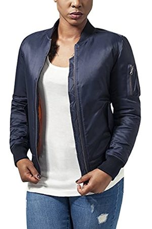 Urban classics Ladies Basic Bomber Jacket Jacket, (Navy 155)