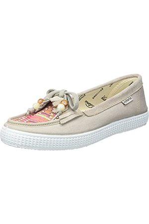 victoria Mocasín Lona/Tejido Étnico, Women's Boat Shoes