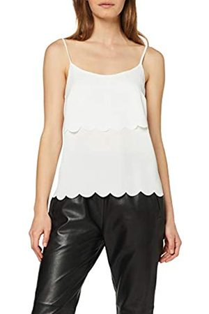 Miss Selfridge Women's Scallop Layer Camisole Top Tank, (Ivory 200)