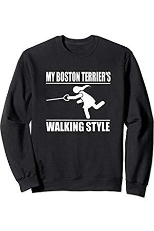 ToonTyphoon Humorous Boston Terrier ( Women ) Walking Style Sweatshirt