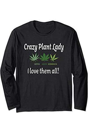 MugWump Hemp Cannabis Hemp Crazy Plant Lady Long Sleeve T-Shirt