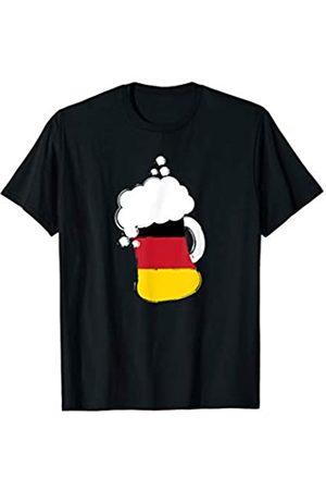 BUBL TEES Germany Flag German Beer Oktoberfest Drinking T-Shirt