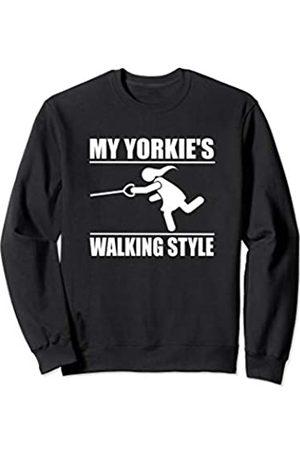 ToonTyphoon Humorous Yorkshire Terrier Yorkie ( Women ) Walking Style Sweatshirt