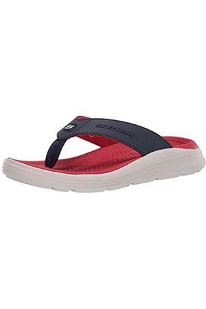 Skechers Men's Sargo SUNVIEW Flip Flops, (Navy Synthetic NVY)