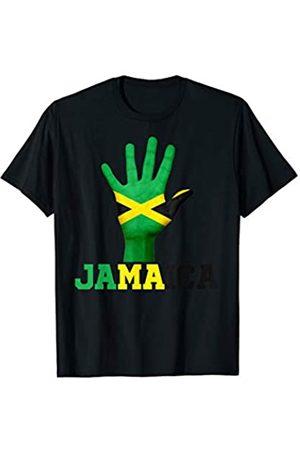Vishtea JAMAICA Hand Up Flag Tshirt I Love JAMAICA Travel Tee T-Shirt