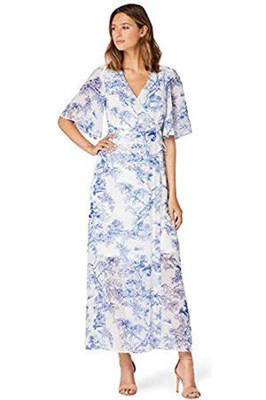 TRUTH & FABLE Amazon Brand - Women's Maxi Chiffon A-Line Dress, 8