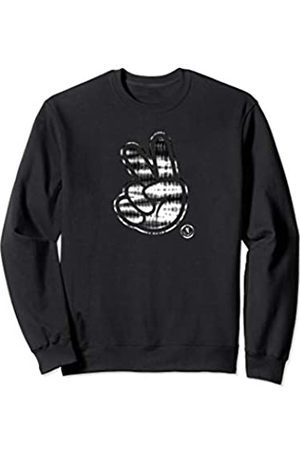 Neff Black and White Peace Sign Sweatshirt