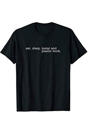 Eat Sleep Swag Eat Sleep Metal and Plastic Work T-Shirt
