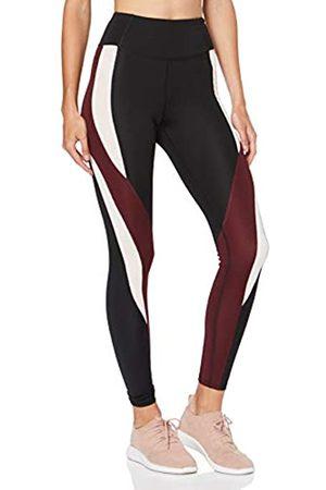 AURIQUE Amazon Brand - Women's High Waisted Colour Block Sports Leggings, 12