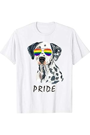 22:35 BRIGHT Dalmatian Sunglasses Pride LGBT Rainbow Flag T-Shirt