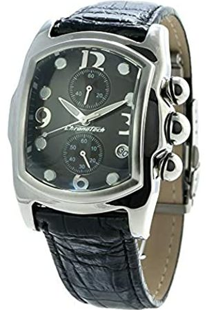Chronotech Mens Analogue Quartz Watch with Leather Strap CT9643-02