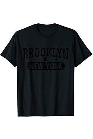 Vishtea Vintage I Love BROOKLYN Skyline NEW YORK Tee T-Shirt