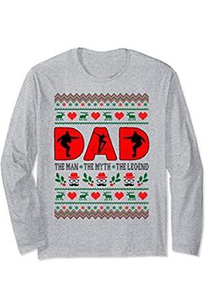 Rinabatu Designs Dad Man The Myth The Legend Skateboarding Christmas Gift Long Sleeve T-Shirt