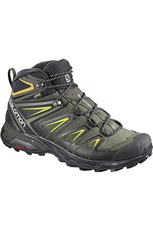 Salomon Men's Shoes X Ultra 3 Wide Mid GTX Gra Mountain Boots, Gray (Castor Gray/ / Sulfur)