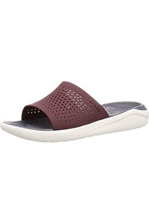 Croc's Unisex Adults' Slide Mixte Clogs, (Bourgogne/Blanc 616)