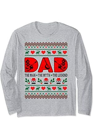 Rinabatu Designs Dad The Man The Myth The Legend Banjo Christmas Gift Long Sleeve T-Shirt