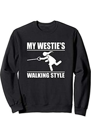 ToonTyphoon Humorous West Highland White Terrier ( Women ) Walking Style Sweatshirt