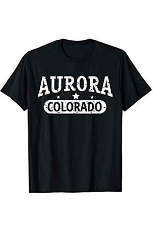 Vishtea Vintage I Love AURORA Skyline COLORADO Tee T-Shirt