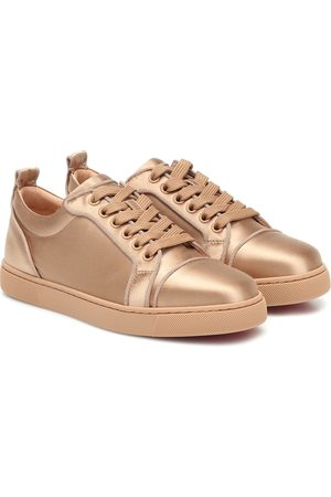 Christian Louboutin Girls Trainers - Louis Junior silk-satin sneakers