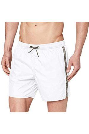 Emporio Armani Men's Boxer Beachwear Logo Tape Swim Trunks
