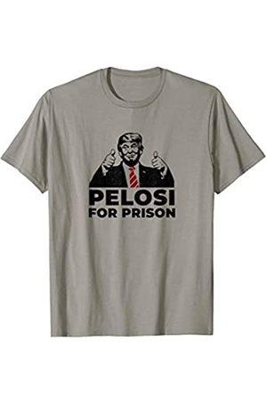 Big League Trump Merch by Witty Logic Pelosi For Prison Pro Trump Anti Impeachment Shifty Schiff T-Shirt