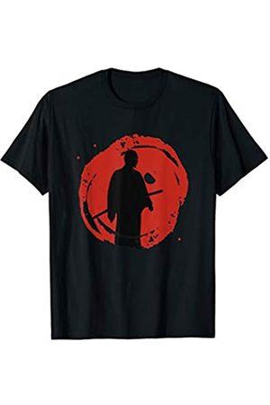My Shirt Hub Japan Lover Gift Japanese Martial Art Bloody Sunset Samurai T-Shirt